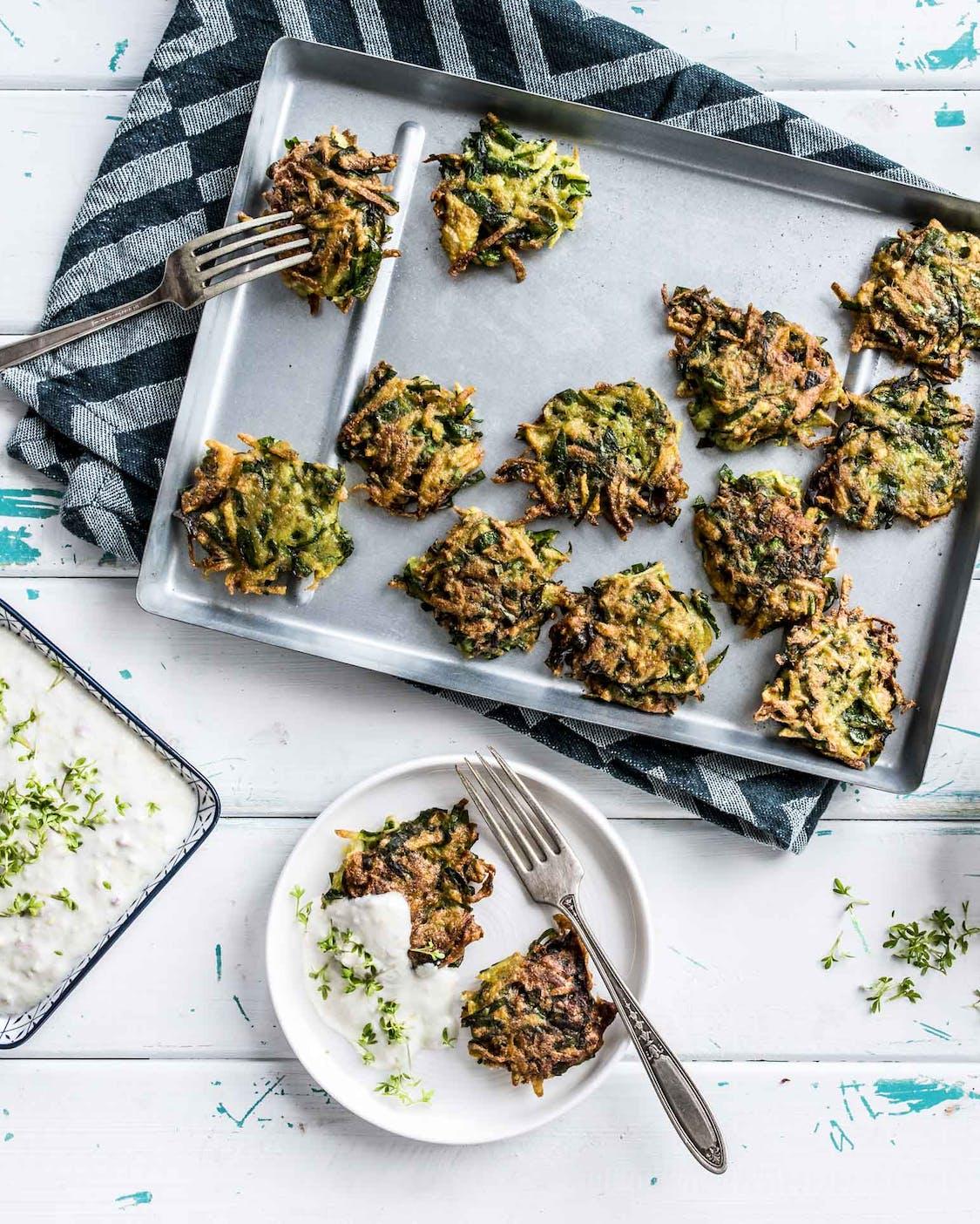 Mini-Kartoffelpuffer mit Mangold