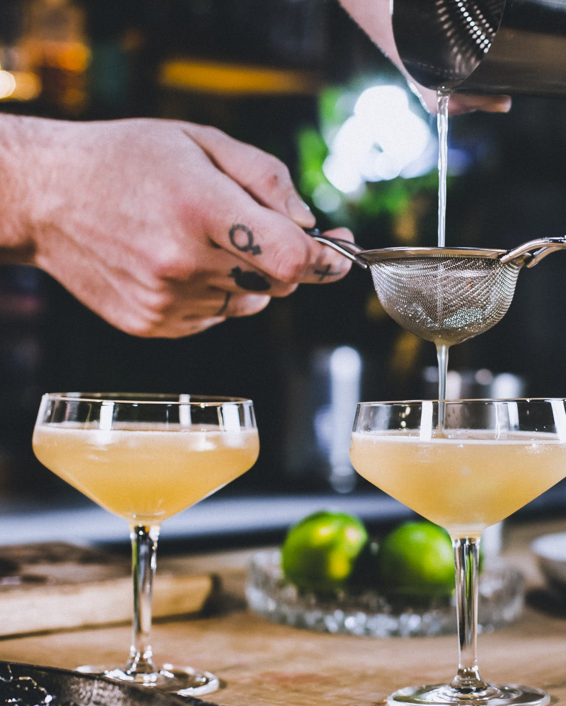 Airmail Cocktail mit Champagner